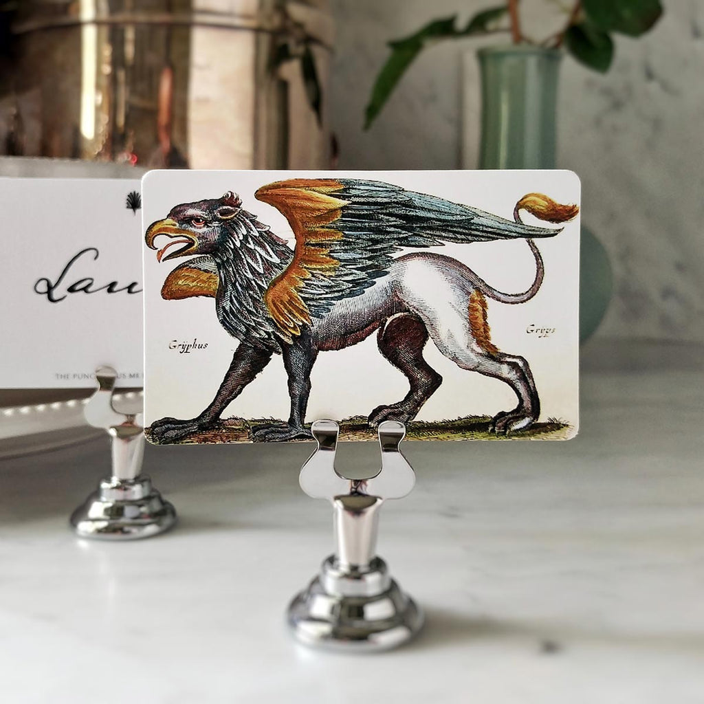 The Punctilious Mr. P's 'Fierce Gryphon' Place Card