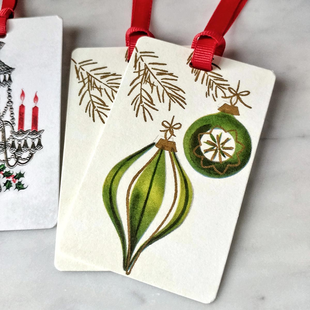 The Punctilious Mr. P's 'Holiday Gift Tags'- Mid-Century Baubles