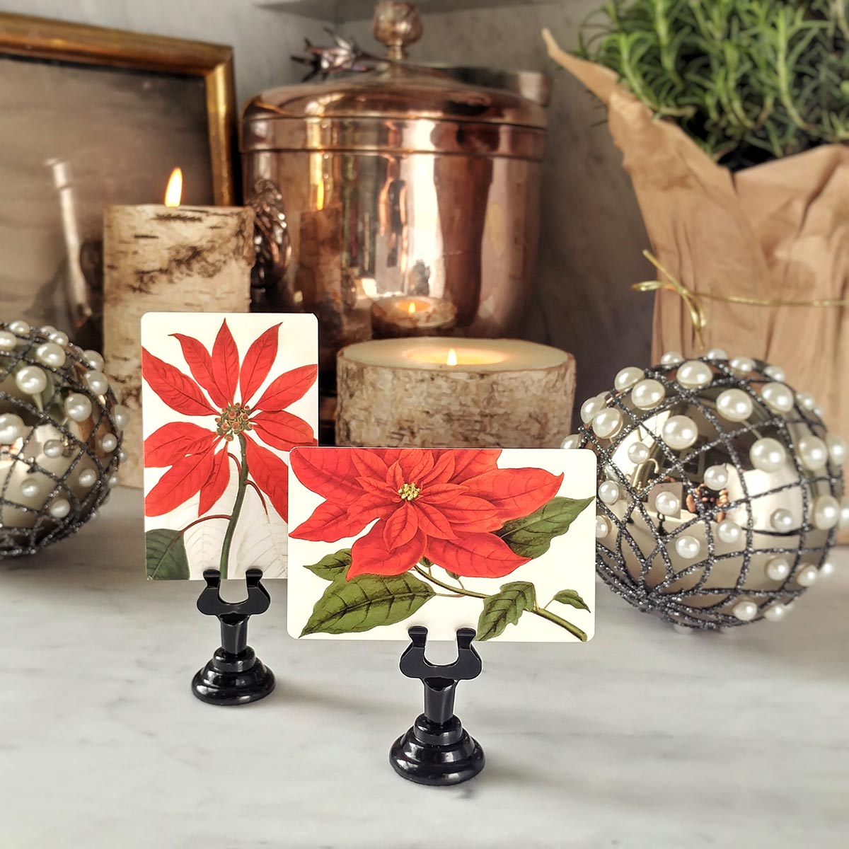 The Punctilious Mr. P's 'Poinsettia' place cards