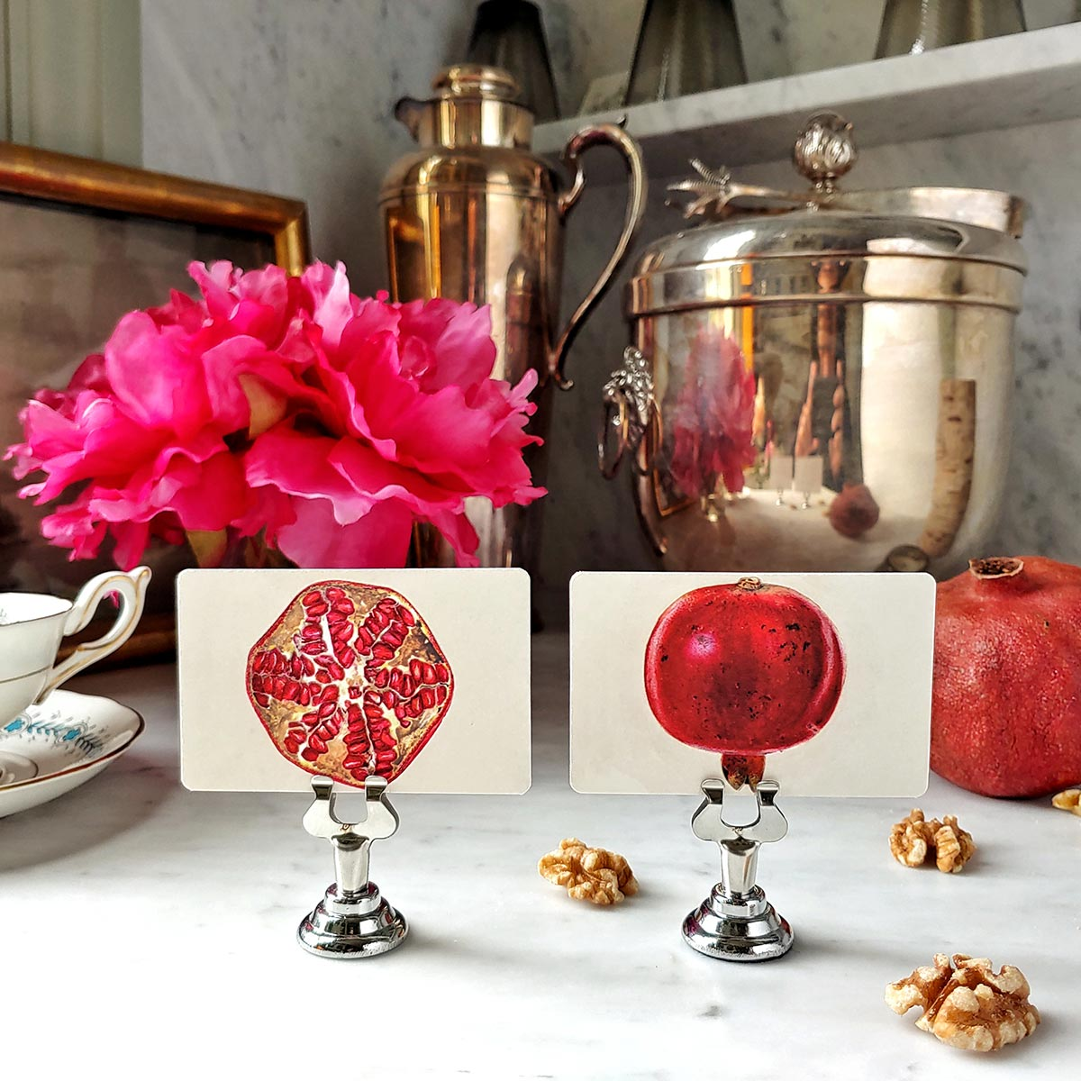 The Punctilious Mr. P's 'Pomegranate' place cards