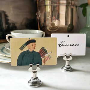 The Punctilious Mr. P's 'Portrait of a Chinese Archer' place cards