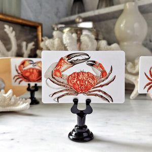 The Punctilious Mr. P's 'Red Crabs' place cards
