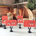 The Punctilious Mr. P's 'Reindeer Games' place cards