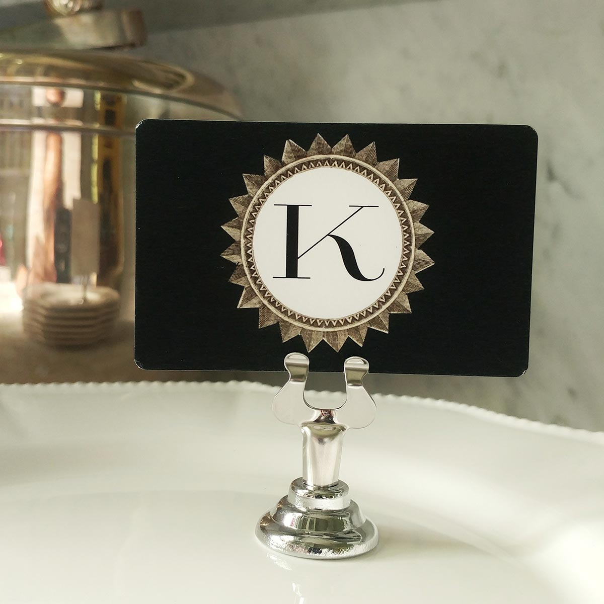 The Punctilious Mr. P's 'Royal Star Monogram- Circle' Place Cards