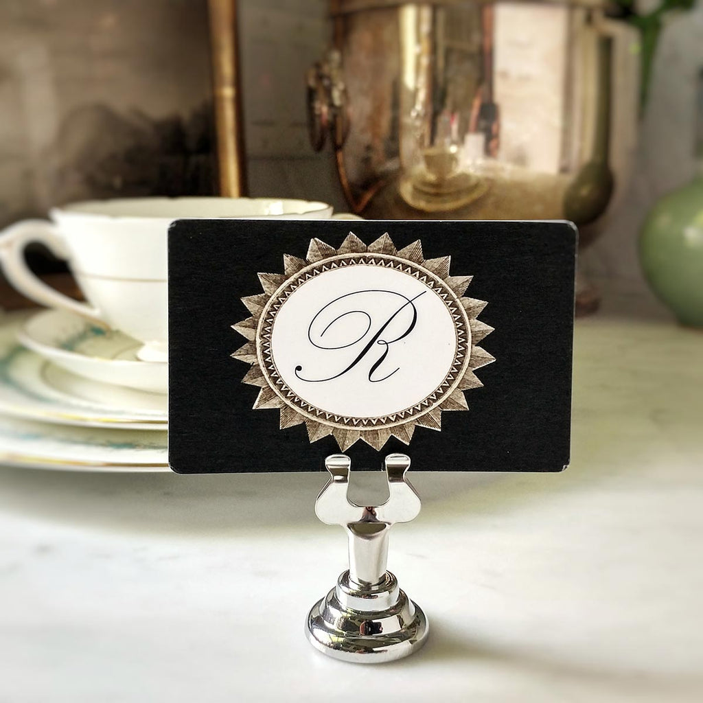 The Punctilious Mr. P's 'Royal Star Monogram- Oval' Place Card