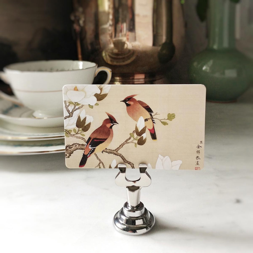 The Punctilious Mr. P's 'Silktail Cardinals' Place Cards