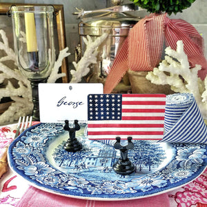 The Punctilious Mr. P's 'Stars & Stripes' place cards