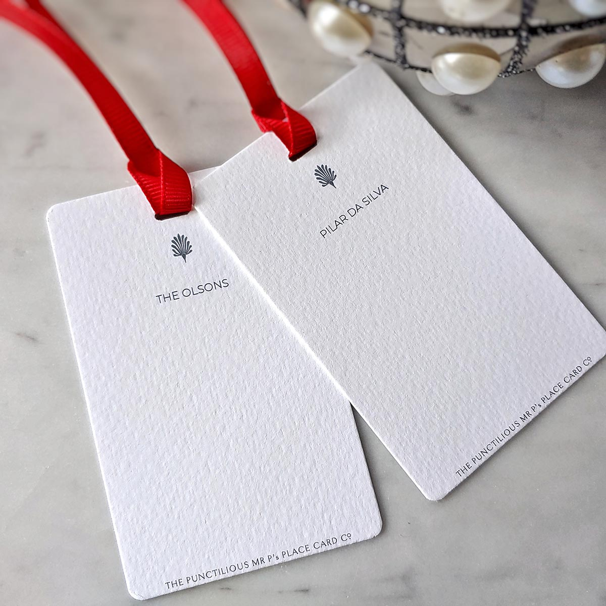 The Punctilious Mr. P's 'Gift Tags'- with personalized name at top