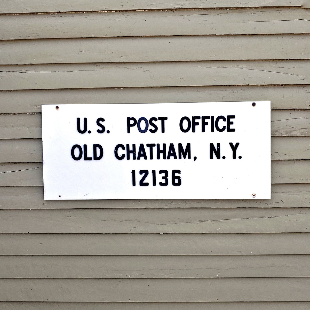 US Post office, Old Chatham NY 12136