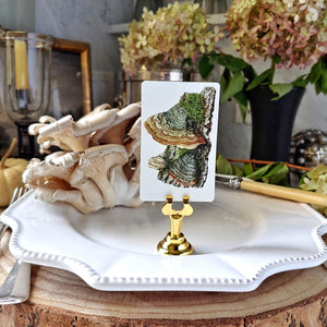 The Punctilious Mr. P's Polypore mushroom place cards