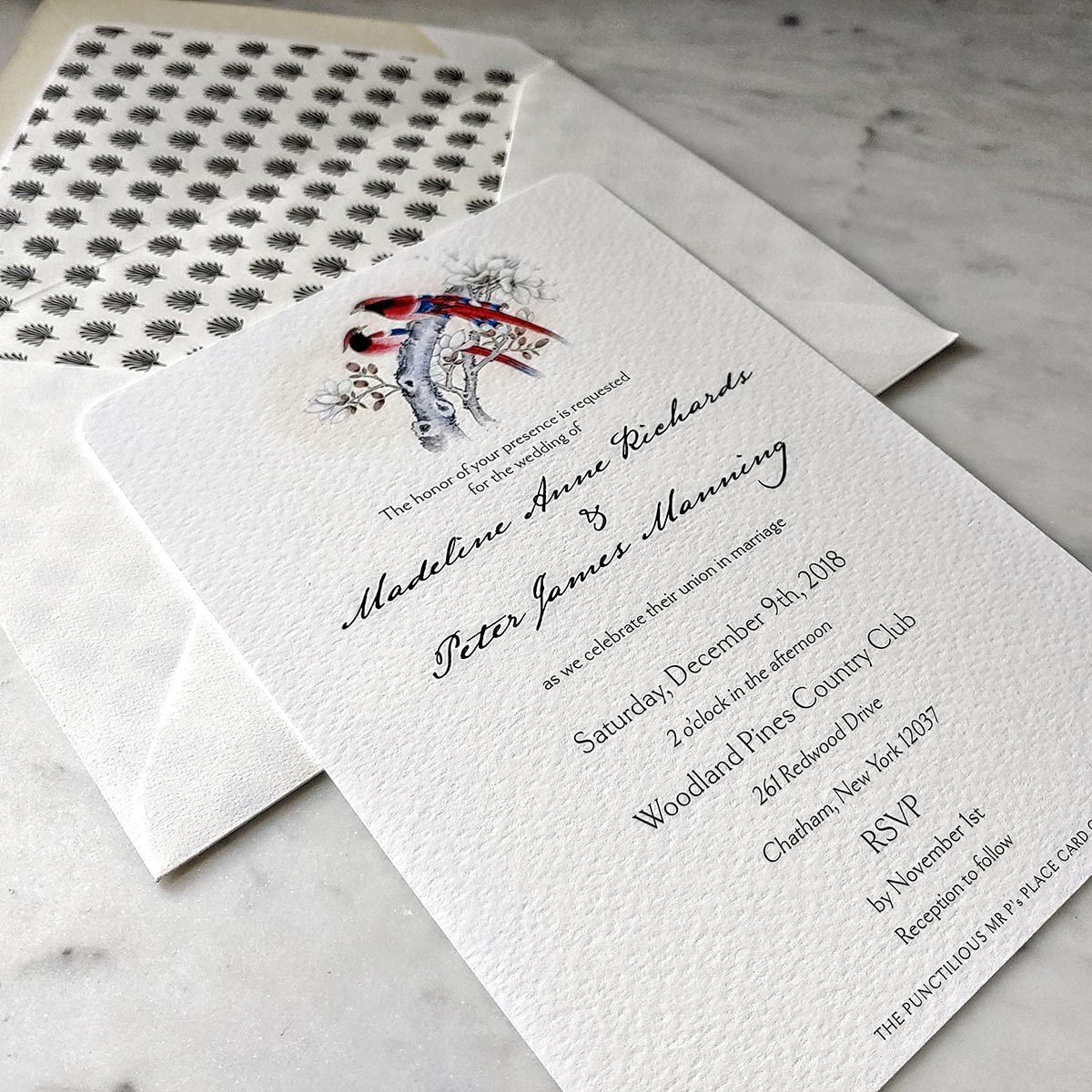 The Punctilious Mr. P's Modern Wedding Invitation