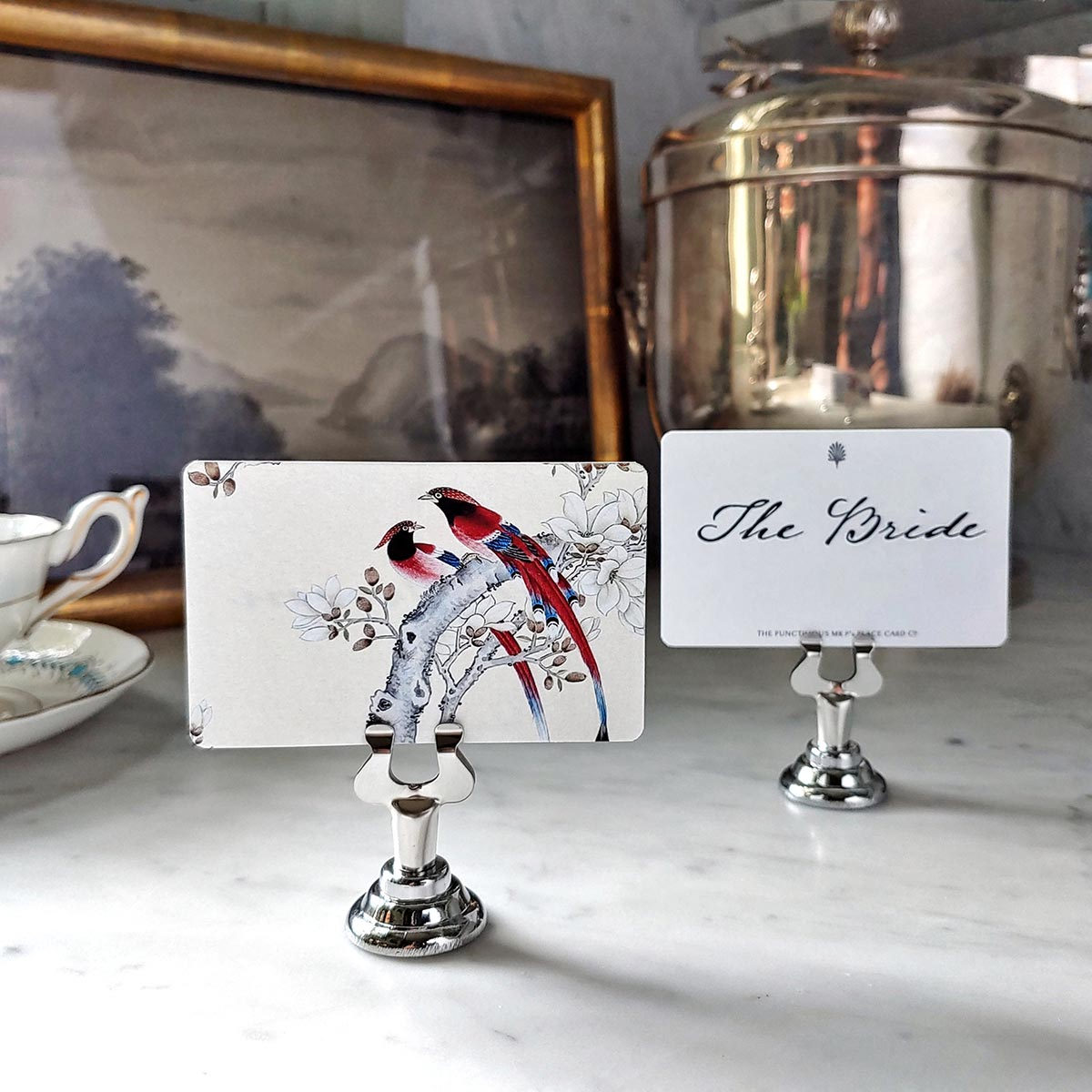 The Punctilious Mr. P's place card samplers