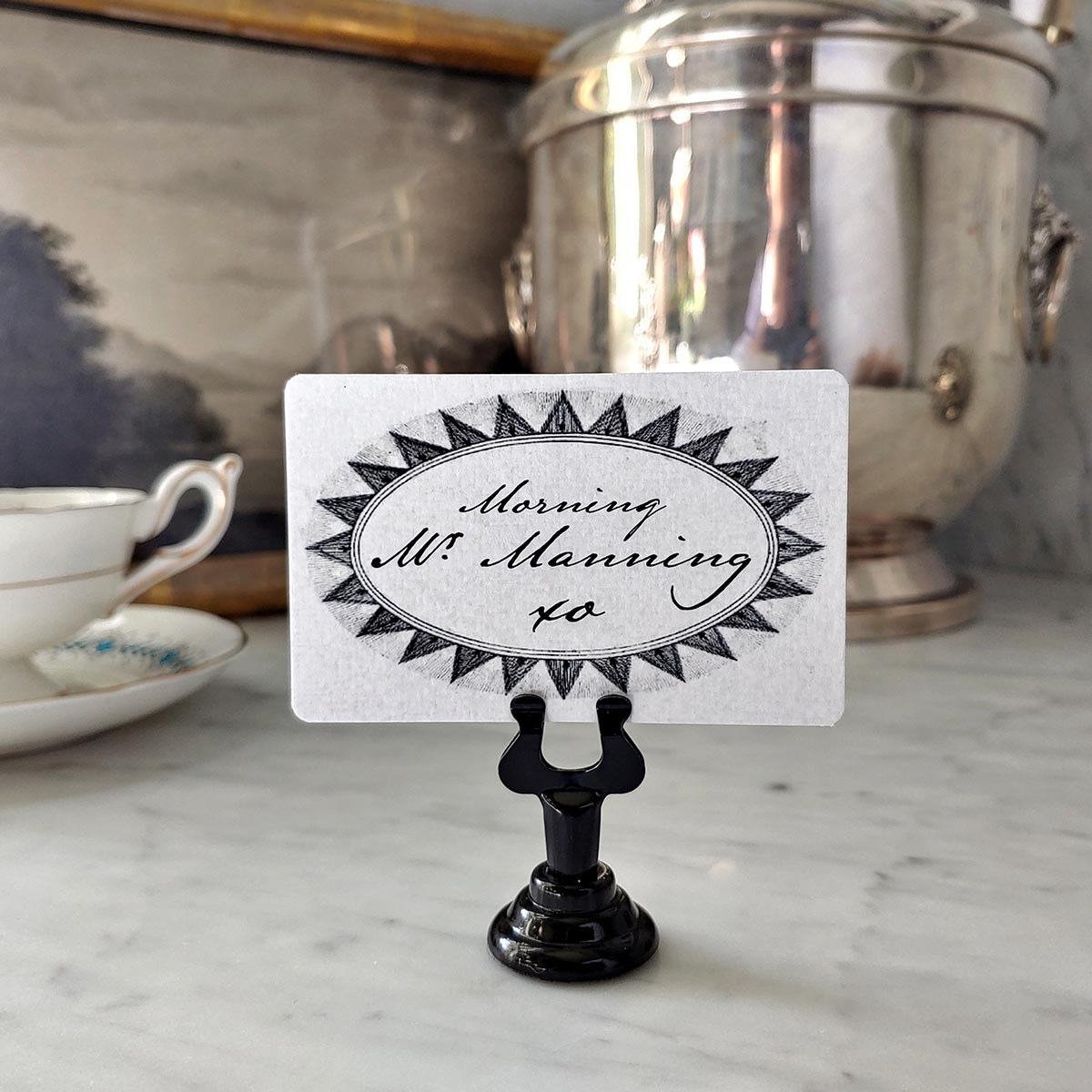 The Punctilious Mr. P's Wedding 'Radiant Star' place cards