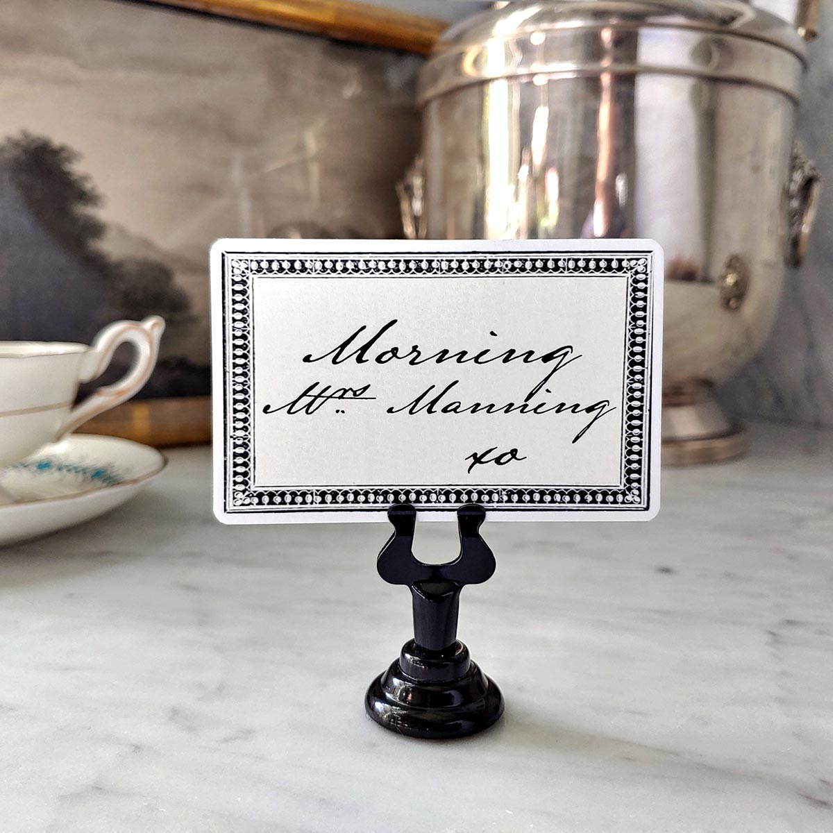 The Punctilious Mr. P's Wedding 'Rectangular Bead' place cards