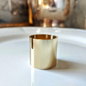 The Punctilious Mr. P's Gold Barrel Place Card Holder in gold finish
