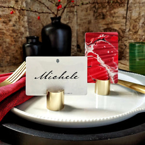 The Punctilious Mr. P's Marble Paper Place Cards