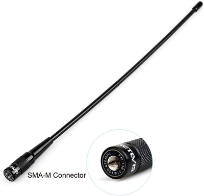 Retevis RHD-771 Two-Way Radio Antenna SMA-M Dual Band Antenna Elite Whip Antenna 144/430 MHz for TYT UV88