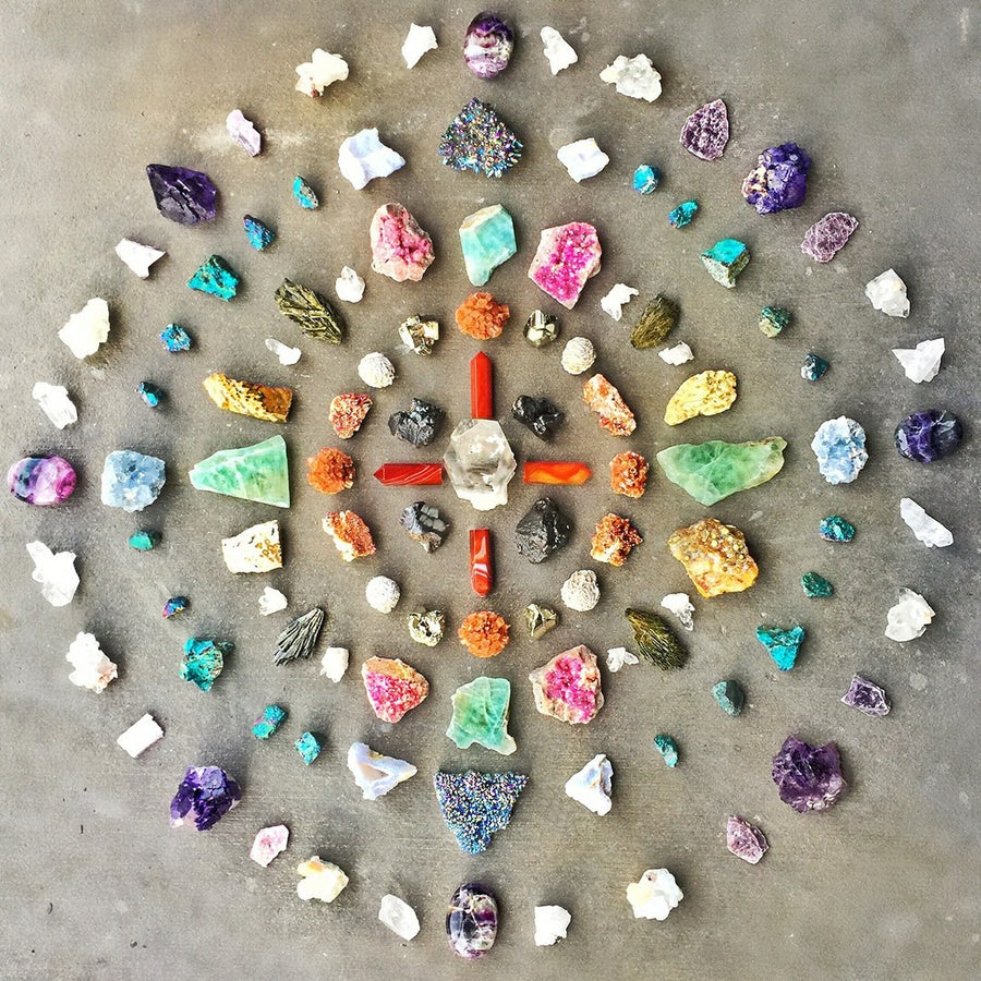 Crystal yoga, meditation and sound scape healing