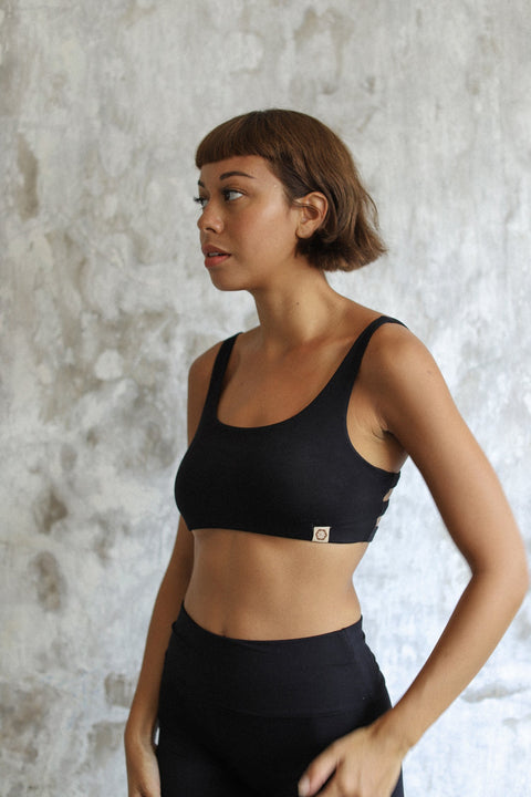 Boxy Crop Black