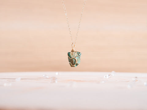 Chrysocolla dainty necklace