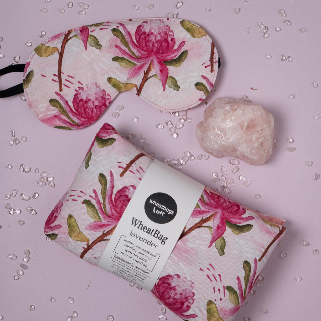Relax Gift Pack - Rose Quartz + Waratah
