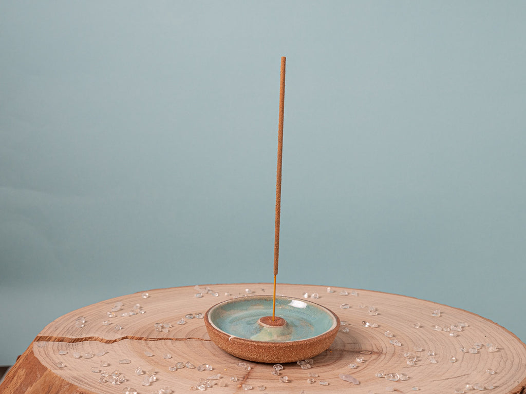 Incense Holder - in Turquoise Earth