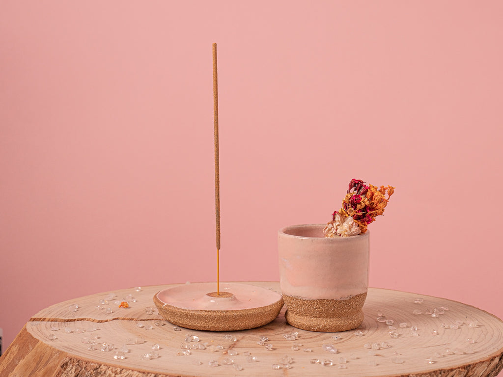 Incense holder - in Rose Earth