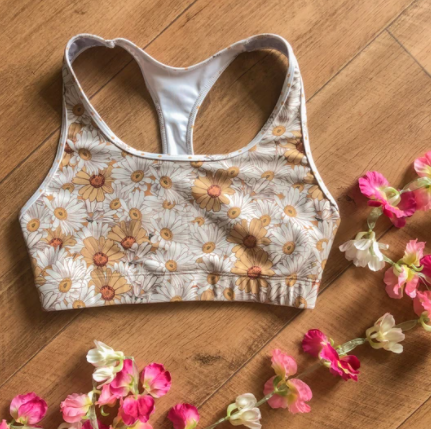 Flower Child Racer Crop