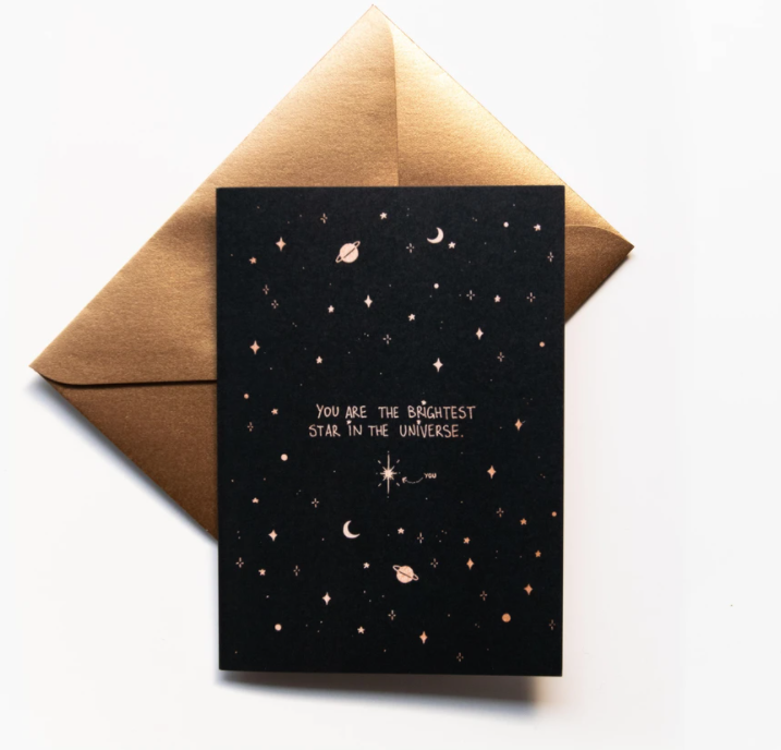 Brightest Star Greeting Card