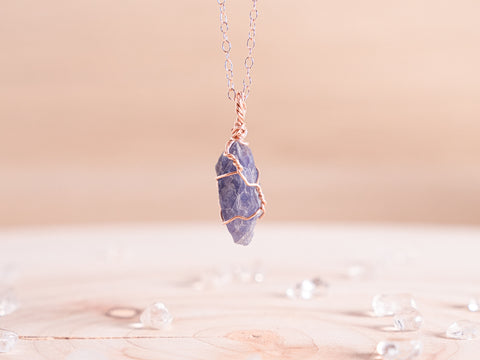 Tanzanite dainty necklace
