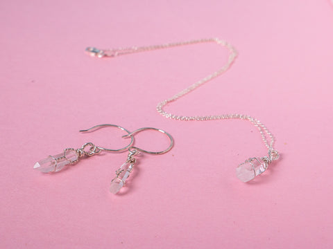 Clear Quartz - Goddess Jewellery Set - Sterling Silver