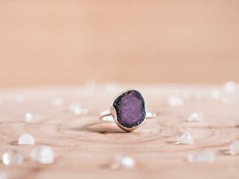 Ruby Zoisite Stella ring | Sterling silver