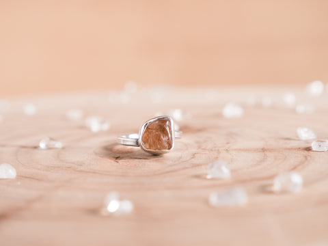 Topaz stella ring // sterling silver