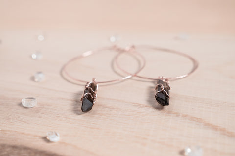 Smoky Quartz Selene Hoops