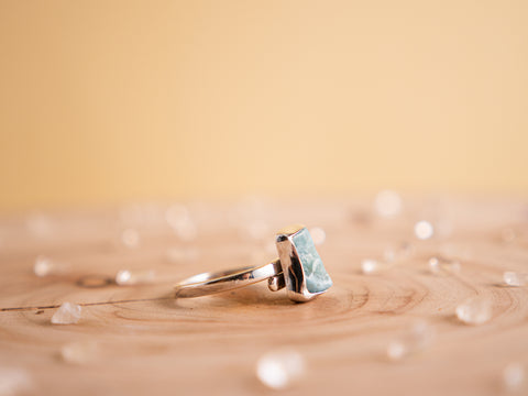 Larimar Stella ring - Fixed Size 9 -  | Sterling silver
