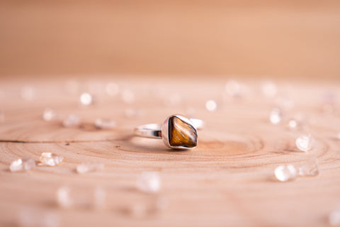Tiger's Eye Stella ring | Sterling silver