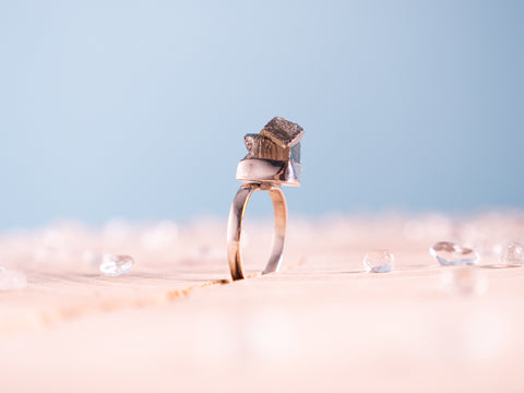 Pyrite Stella ring | Sterling silver