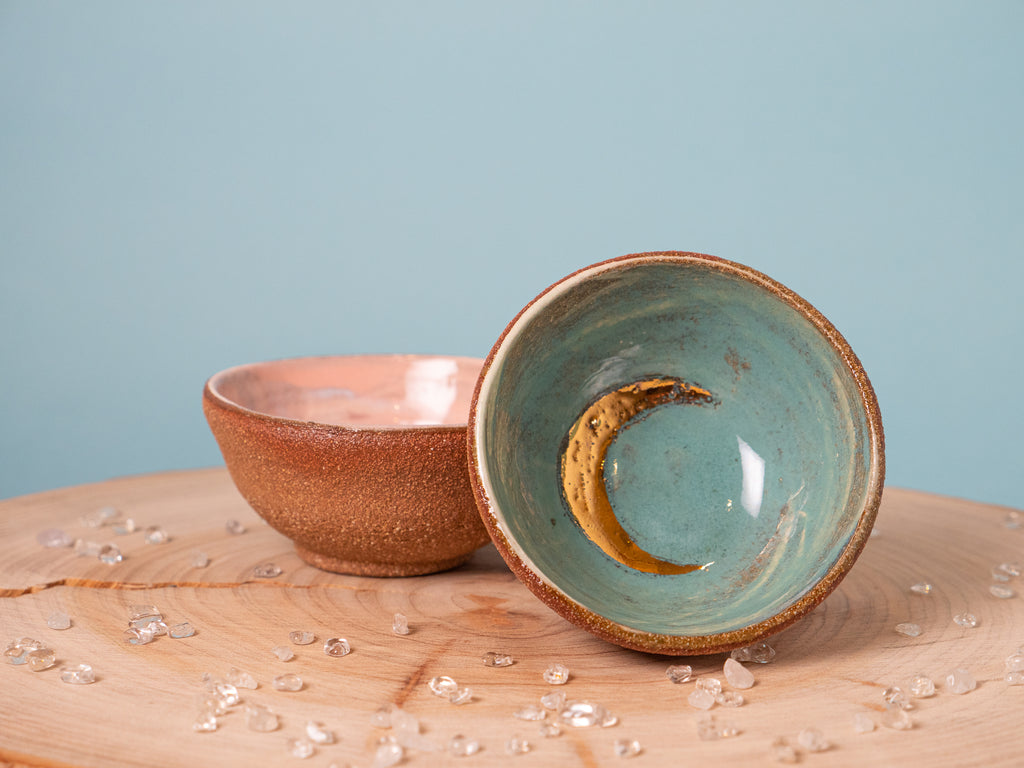 Moon Dish - Turquoise Earth  12k gold