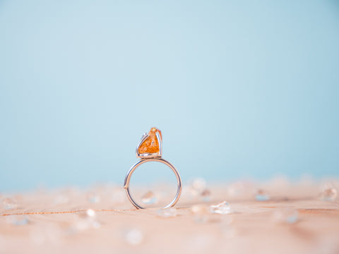 Citrine Hera ring | Sterling silver