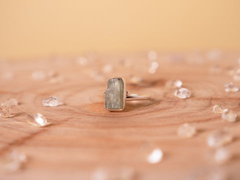 Green Kyanite stella ring | sterling silver