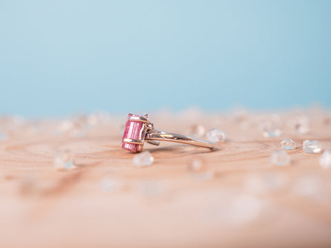Pink Tourmaline Hera ring | Sterling silver