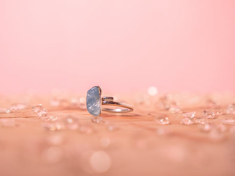 Aquamarine Stella ring | Sterling silver