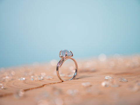 Aquamarine Hera ring | Sterling silver