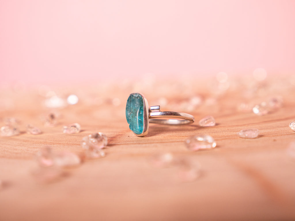 Apatite Stella ring | Sterling silver