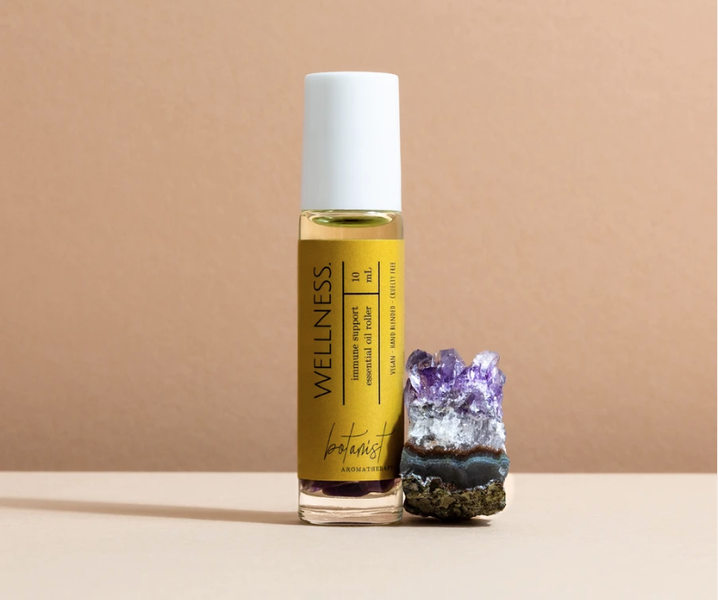 Wellness roller | with Amethyst crystals
