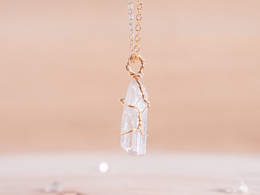 Danburite dainty necklace | 14k Gold Fill