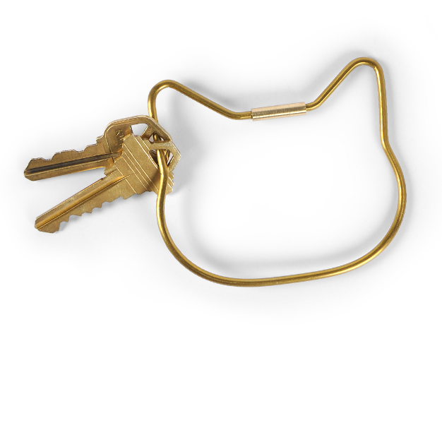 fancy that cat key ring