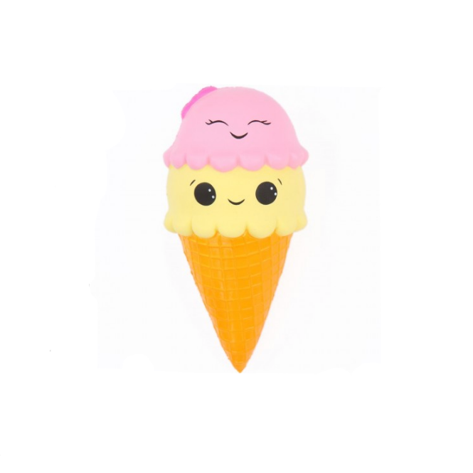 smiling double scoop ice cream squishy