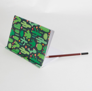 colorful cactus notebook