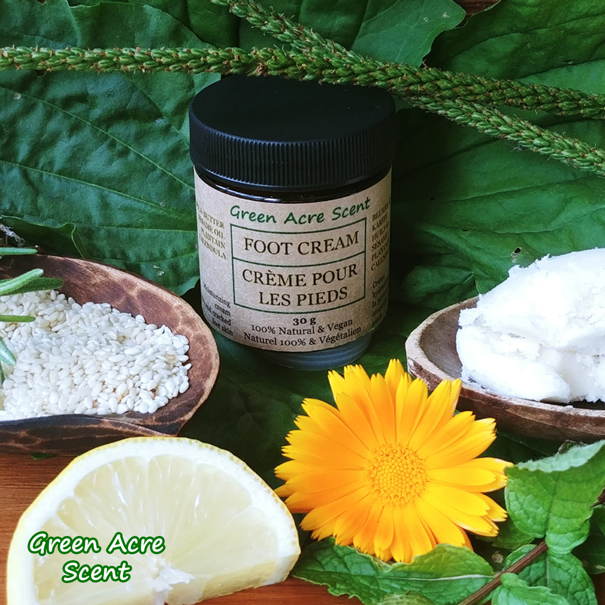 Foot Cream New Product Release Green Acre Scent Bd
